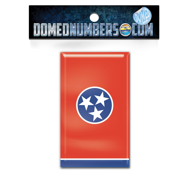 Tennessee Flag Domed Decal, Choose Your Size