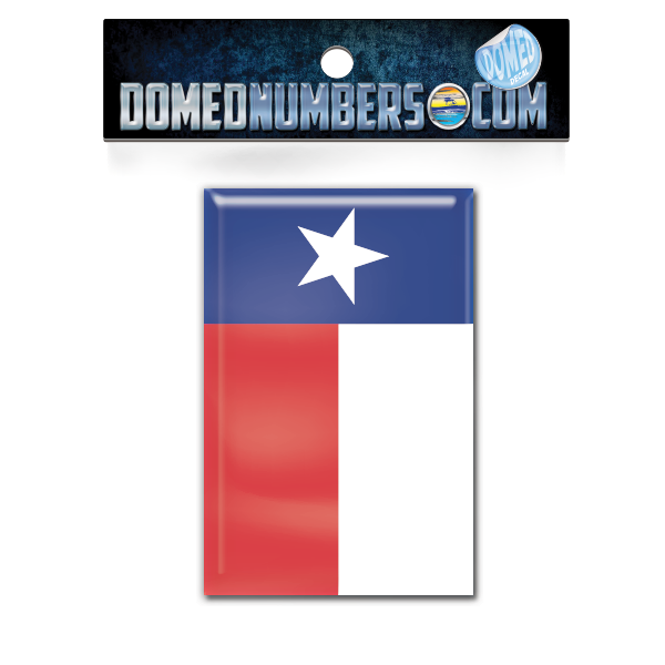 Texas Flag Domed Decal, Choose Your Size