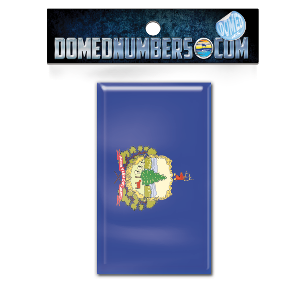 Vermont Flag Domed Decal, Choose Your Size