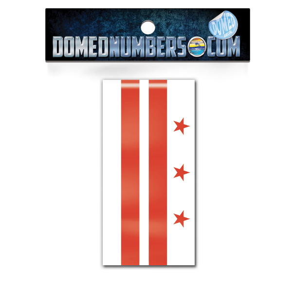 Washington D.C. Flag Domed Decal, Choose Your Size