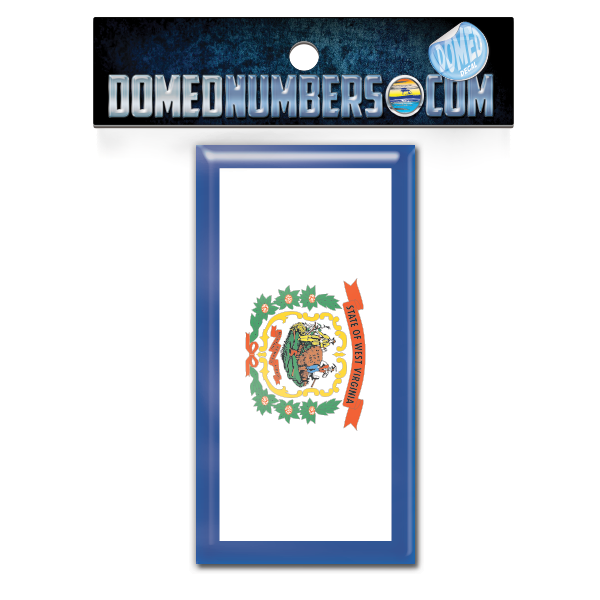 West Virginia Flag Domed Decal, Choose Your Size