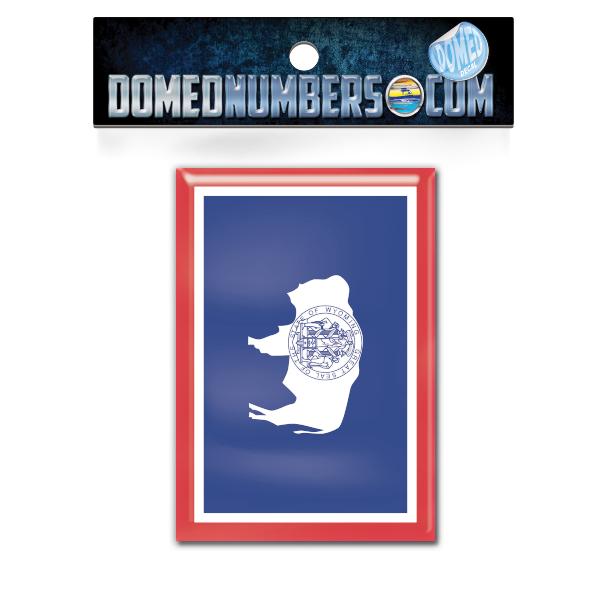 Wyoming Flag Domed Decal, Choose Your Size