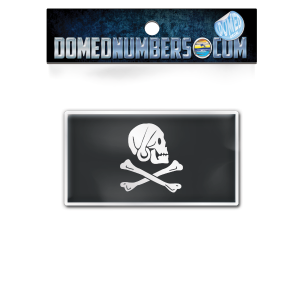 Henry Avery's Pirate Flag Domed Decal, Choose Your Size