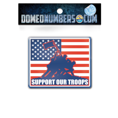 Support Our Troops Square Domed Decal
