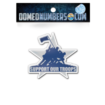 Support Our Troops Star Domed Decal