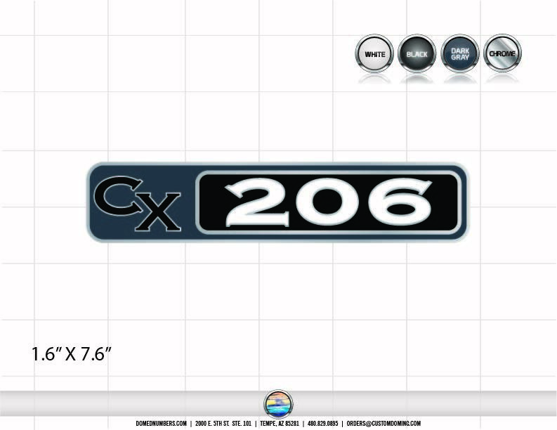 CHAMPION CX 206 Decal Set (2 Decals Included)