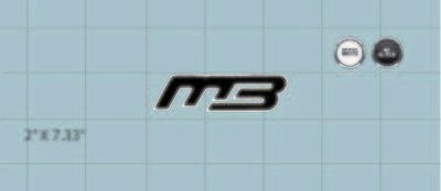 MB Truck Window Decal