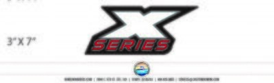 Triton X Series  (1 Decal Included)