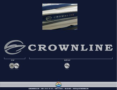 Crownline Brand Decal
