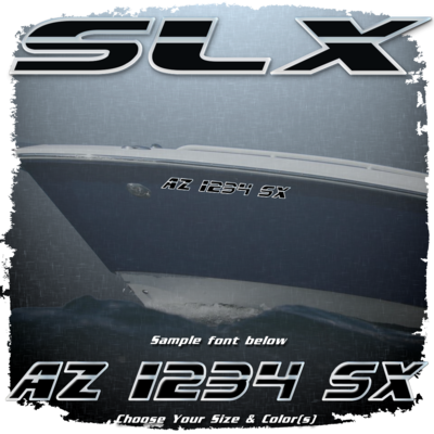 Sea Ray SLX Registration, Choose Your Own Colors (2 included)