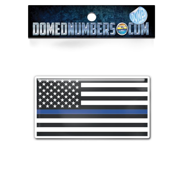 "American Flag ""Thin Blue Line"", Choose Your Size"