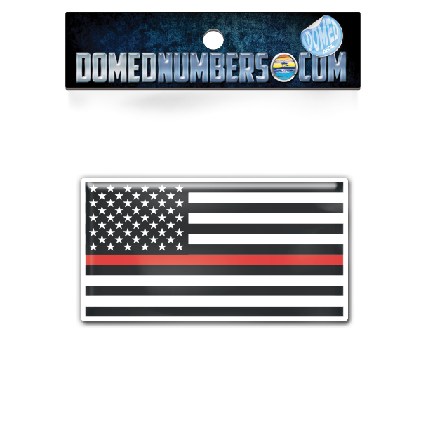 "American Flag ""Thin Red Line"", Choose Your Size"