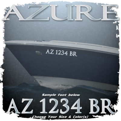 Azure Registration (2 included), Choose Your Own Colors