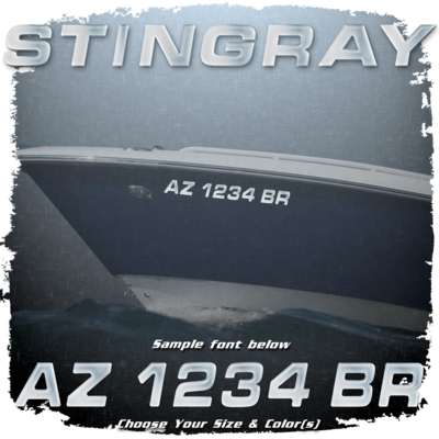 Stingray Registration (2 included), Choose Your Own Colors