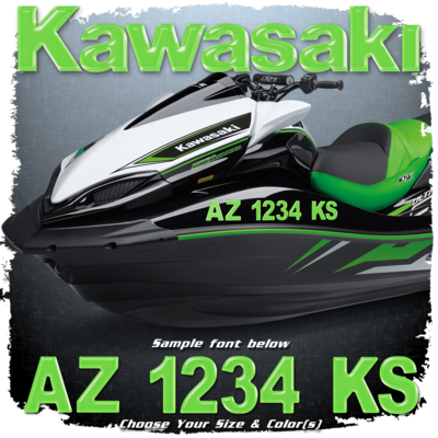 Kawasaki Registration (2 included), Choose Your Own Colors