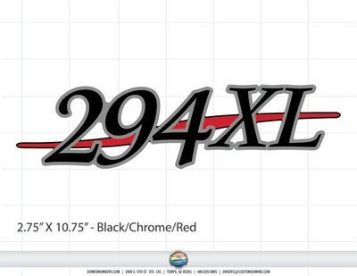 Stratos 294XL domed decal