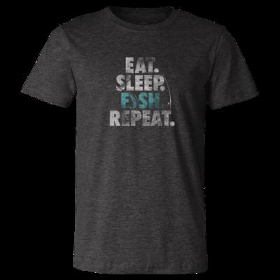 Eat, Sleep, Fish, Repeat - Vintage Soft Unisex T Shirt
