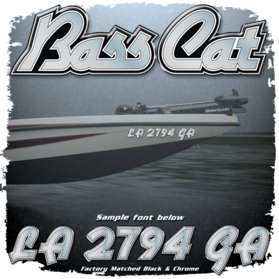 Bass Cat Registration (2 included), Factory Matched