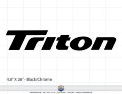 Triton LTS Light Tackle Series Domed Decal Set (2 included)