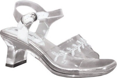 Childrens' Anna Clear Shoes with White Accent