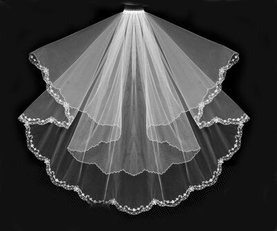 Exquisite Double Layer Veil & Blusher