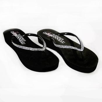 Sunshine ~ Low Heel Black Flip Flops
