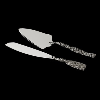 Silver Plated Tassel Design Cake Server