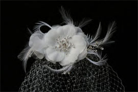 CAGE VEIL WITH DELICATE  by ENVOGUE ACCESSORY'S