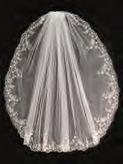 Veil with embroidered edge