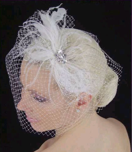 FEATHERED  BIRDCAGE by LC BRIDAL