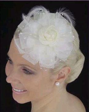 SILK FLOWER HAT by LC BRIDAL