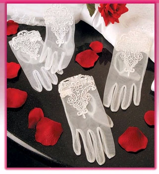EMBROIDERED WRIST GLOVES