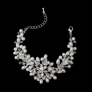 Pearl/ Swarovski Crystal / Rhinestone Bracelet