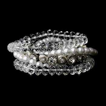 Silver White Bracelet