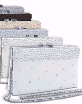 CRYSTAL & PEARL ACCENTS CLUTCH