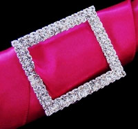 SQUARE CRYSTAL BUCKLE