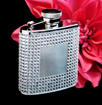 Silver Crystal Flask