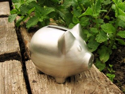 Silver Ring Bearer's Piggy  Bank