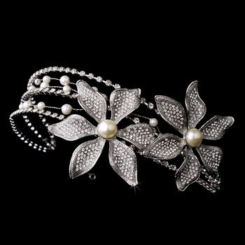 Rhinestone and Swarowski crystal headband SIDE  ACCENT