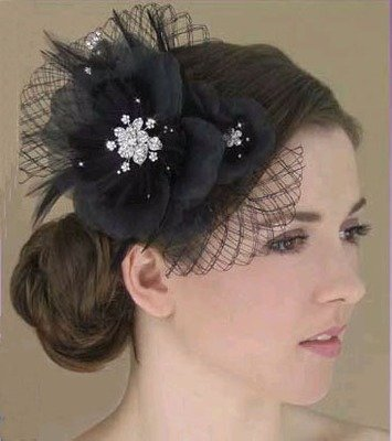 FEATHER & ORGANZA FLOWER