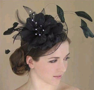 BLACK ORGANZA FLOWER