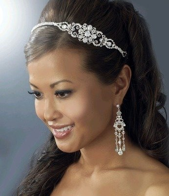 SILVER RHINESTONE  SIDE ACCENT