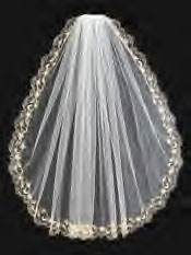 EMBROIDERED EDGE ON VEIL