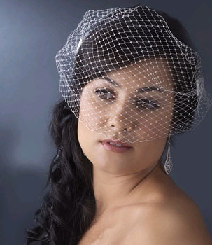 CAGE VEIL WITH SIDE COMBS  BY WEDDING FACTORY DIRECT