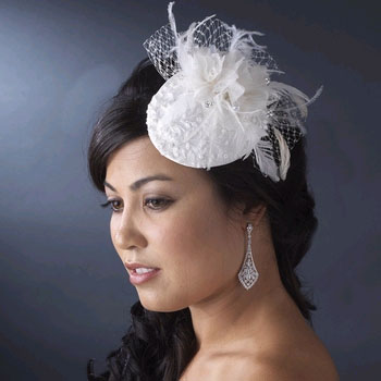 FEATHER FLOWER HAT by WEDDING FACTORY DIRECT
