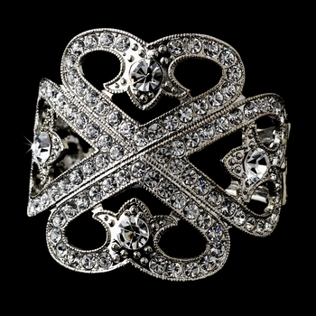 Silver Clear Bangle Bracelet