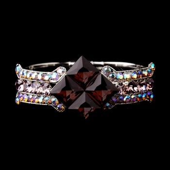 Hematite Large Blue & AB Crystal Bracelet