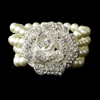 Silver Ivory Pearl Bracelet