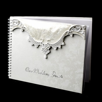 Victorian Lace Guest Book