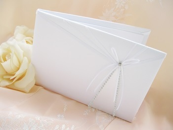 Sheer Ribbon Guest Book